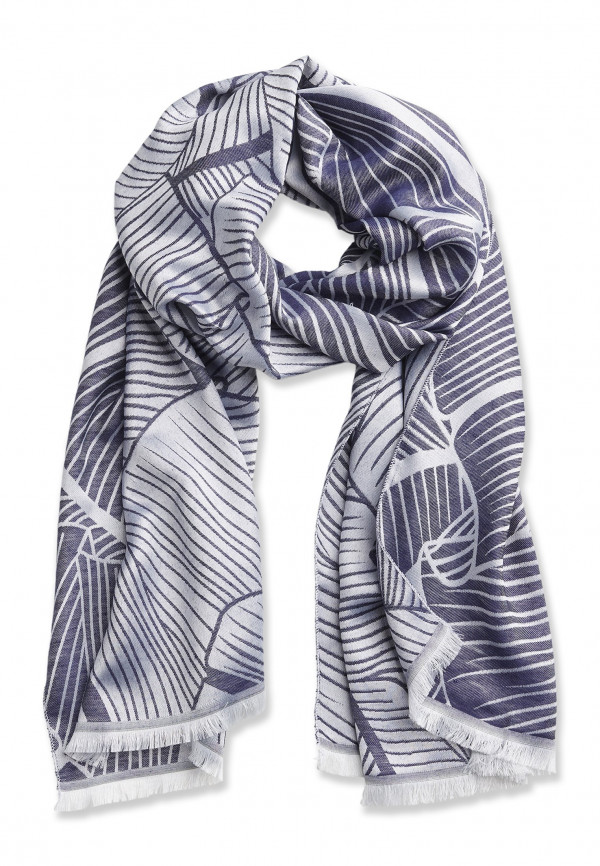 Mid Blue Printed Pattern Design Scarf