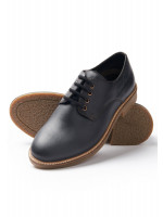 Owen Black Casual Shoe With Rubber Sole