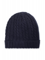 Navy Knitted Beanie Hat