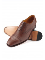 Windsor Antique Tan Semi-Brogue Leather Sole And Goodyear Construction