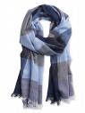 Blue, Navy and Stripe Block Design Scarf