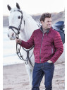 Wine Tamarind Embossed Casual Jacket