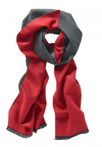 Red and Charcoal Scarf
