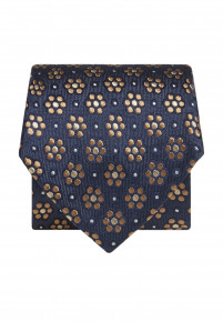Blue with Yellow Flower Silk Tie