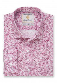 Classic and Tailored Fit Rose Floral Print Shirt