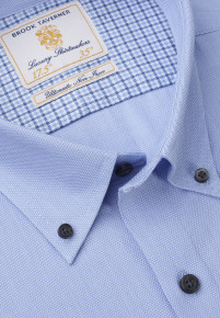 Classic and Tailored Fit Non-Iron Business Casual Sky Blue Dobby Shirt