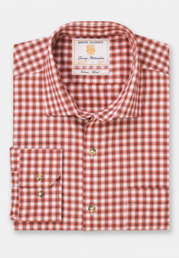 Copper with Winter White Shadow Check Shirt