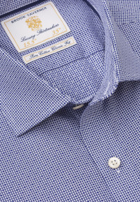 Navy Check With Spot Shirt