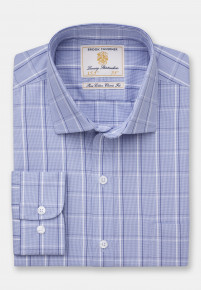 Blue With Navy Overcheck Shirt