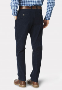 Navy Finningley Cord Trousers