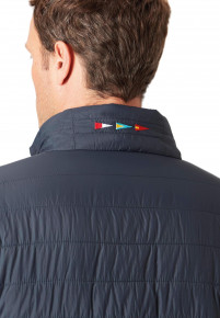 Linden Navy And Cherry Reversible Quilted Casual Jacket