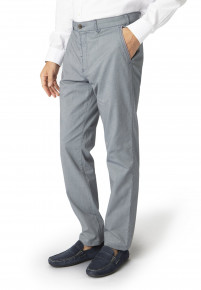 Lyme Navy Pinstripe Tailored Fit Trouser