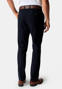 Seychelles Navy Classic and Tailored Fit Winter Weight Cotton Twill Trouser