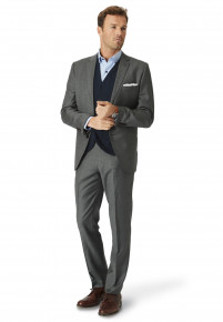 Wilson Grey Three Piece Suit - Waistcoat Optional