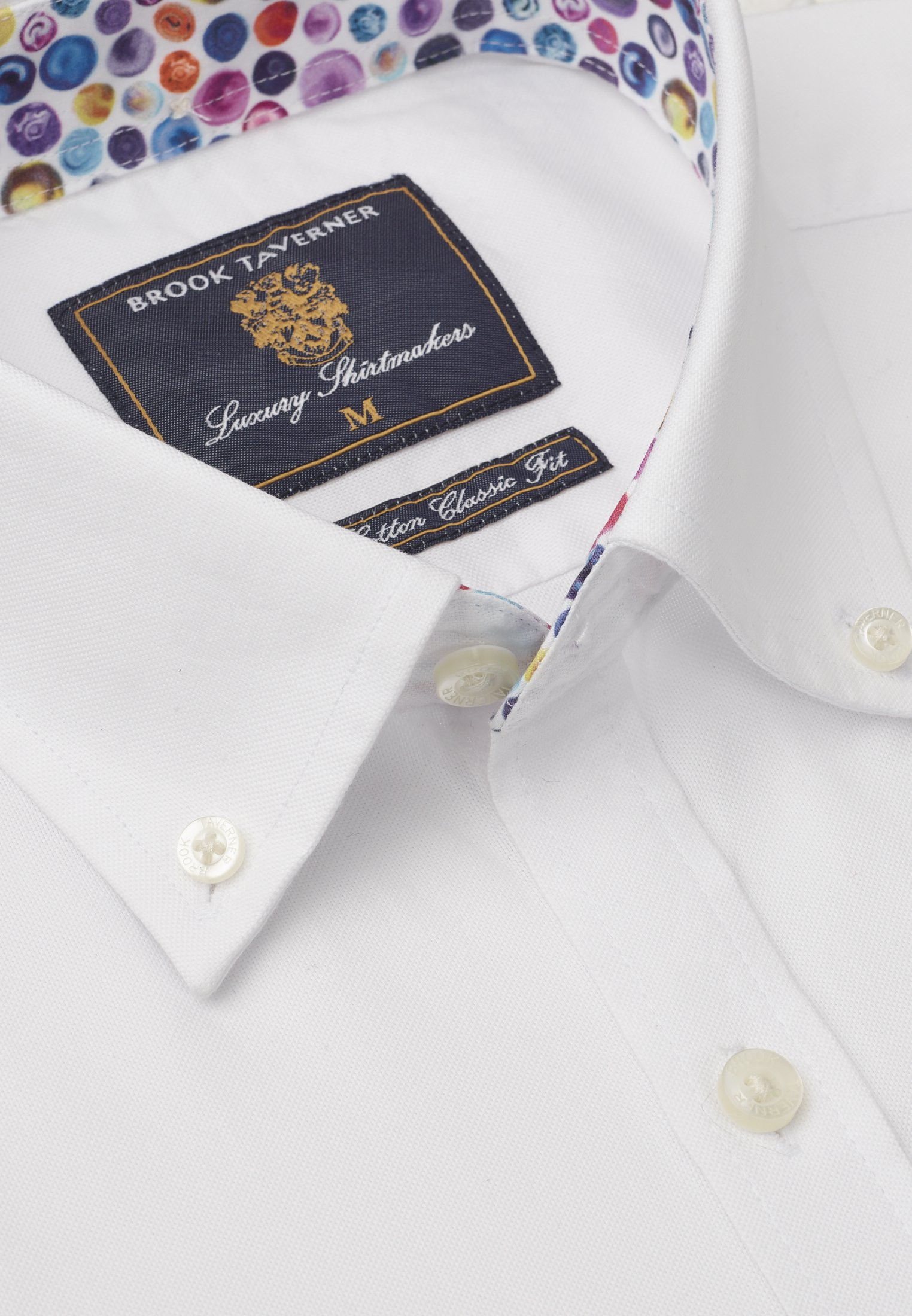 Long And Short Sleeve White Oxford With Coloured Trim Shirt