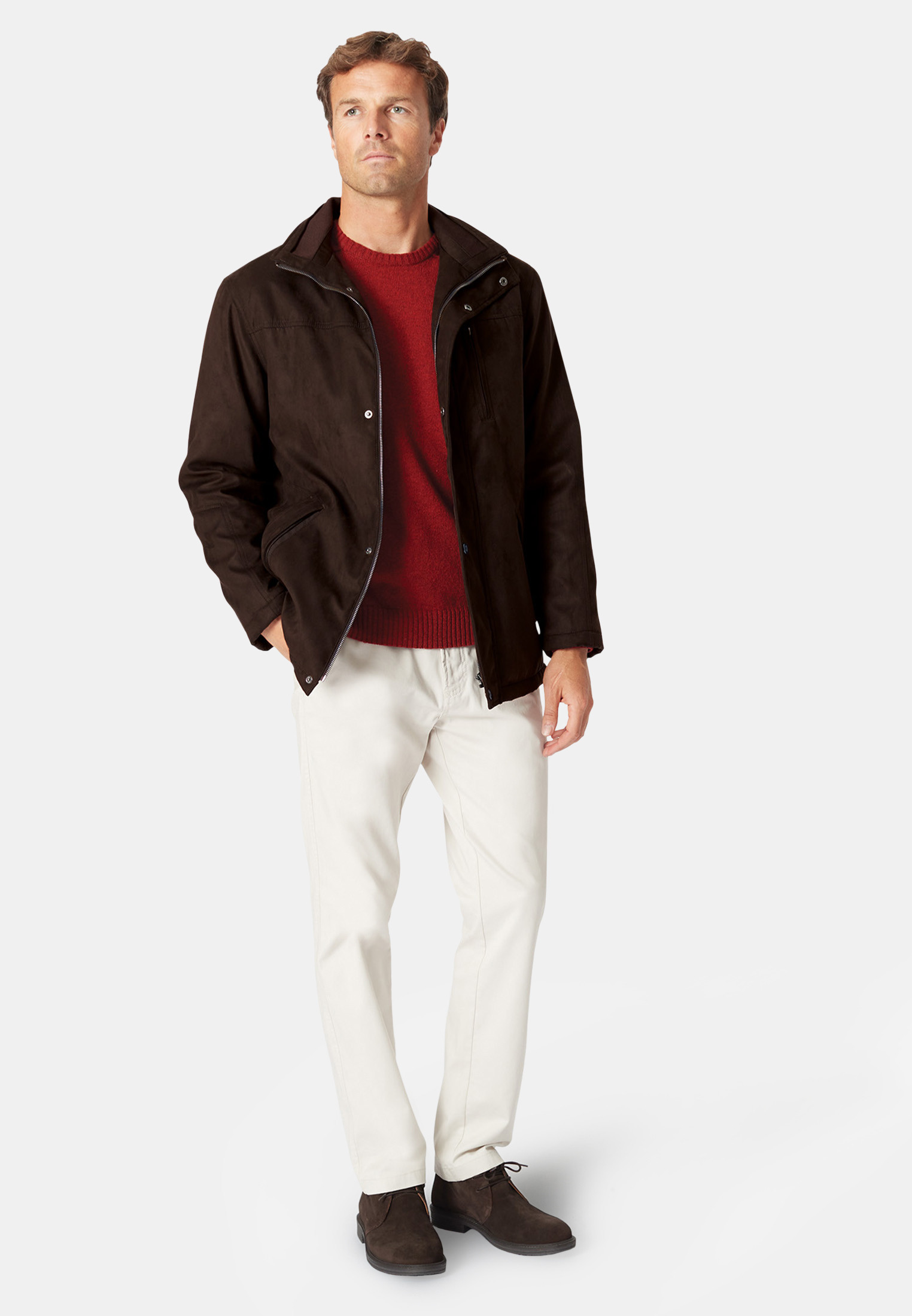 Bedfordshire Chocolate Suede Casual Coat