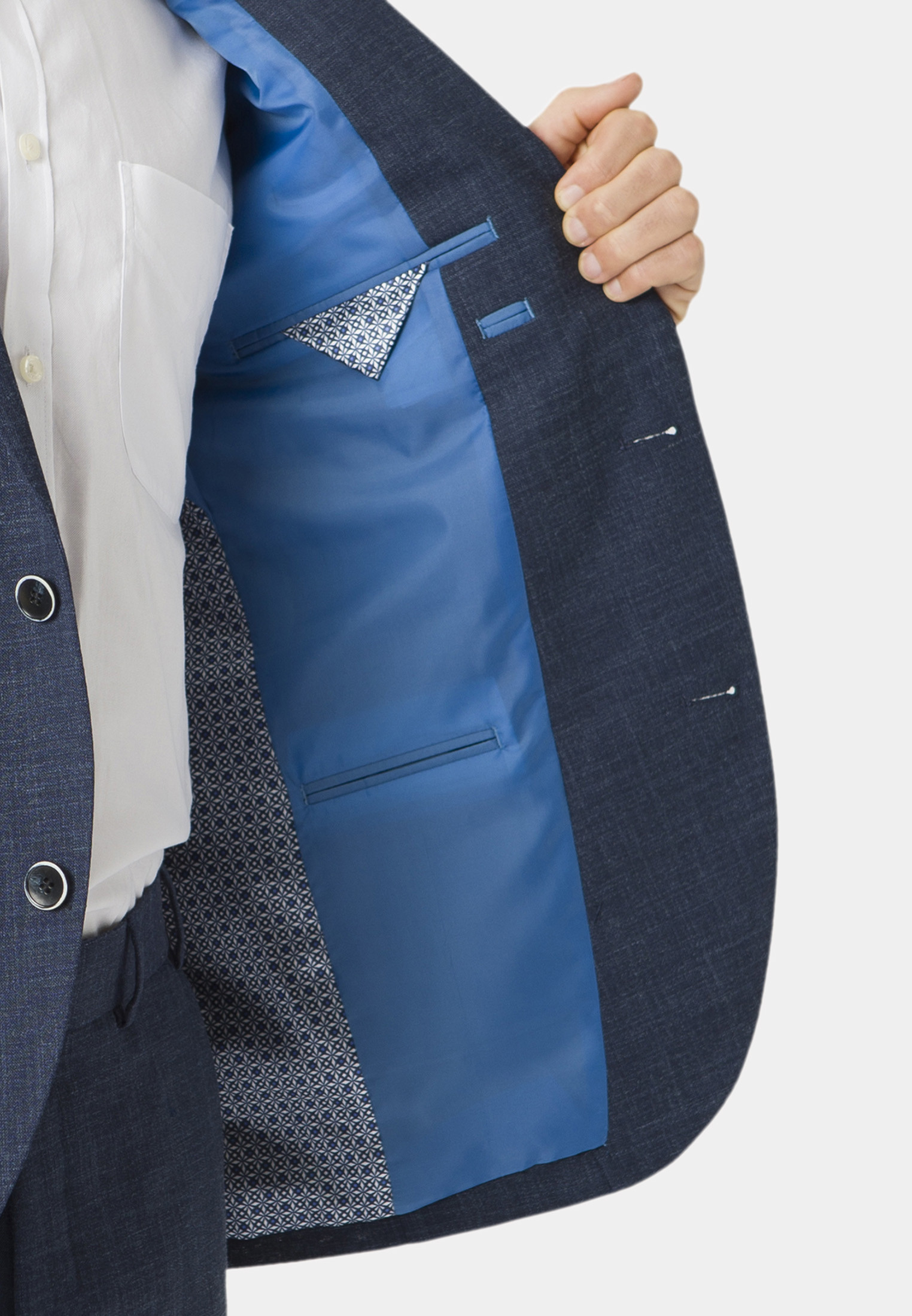Constable Navy Tailored Fit Suit Jacket