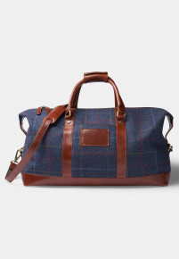 Haincliffe Tweed Leather Holdall