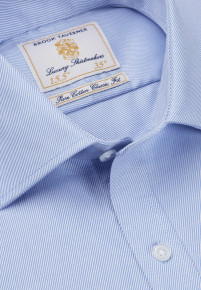 Single and Double Cuff Blue Royal Twill 100% Easycare Cotton Shirt