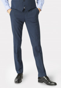 Cassino Navy Check Tailored Fit Washable Suit Trouser
