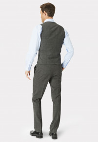 Cassino Grey Check Tailored Fit Washable Suit Waistcoat